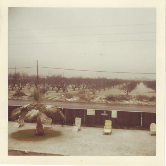 Snow at Fresno apartment