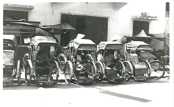 Rickshaw Pedicabs - Da Nang 1968
